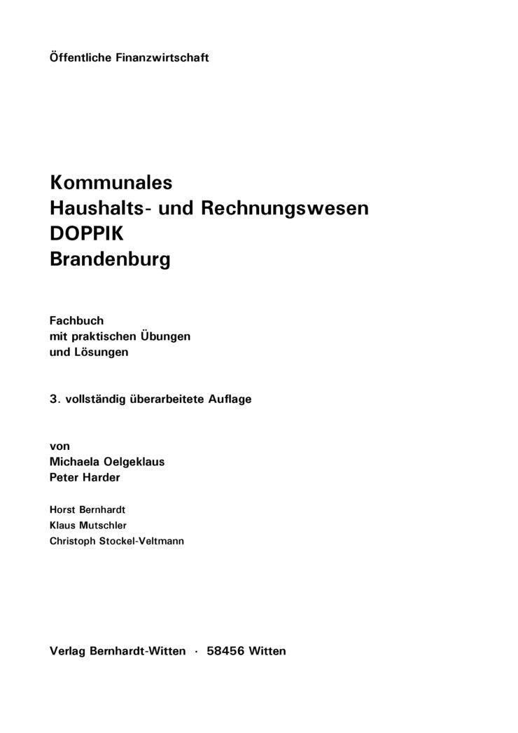 Kommunales Haushalts- und Rechnungswesen - DOPPIK - Brandenburg
